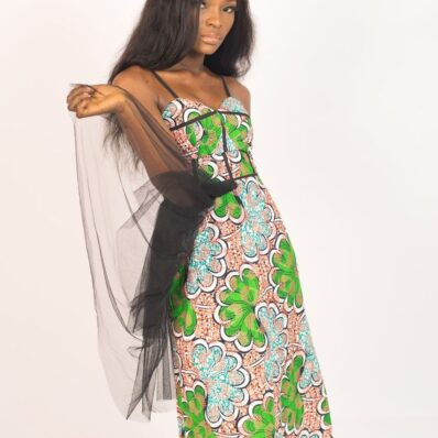 KIDAN DESIGNED Green Gold Printed Dress
