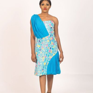 KIDAN DESIGNED Colour Printed Office Dress