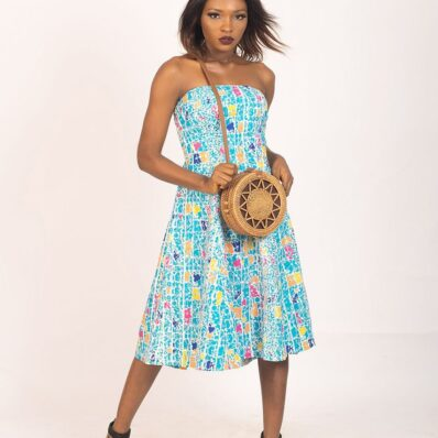 KIDAN DESIGNED Colour Printed Blue Dress
