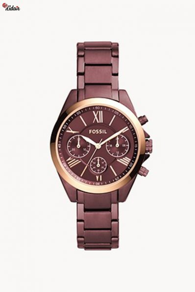 Fossil Midsize chronograph wine stainless steel watch