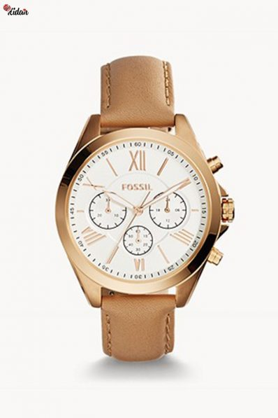 Fossil Modern Courier Chronograph Tan Leather Watch